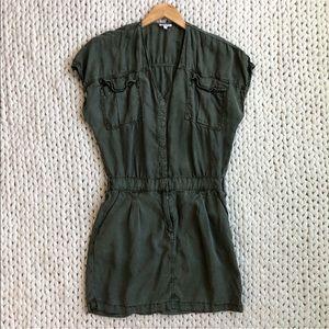 Splendid Olive Green Cargo Military Dress